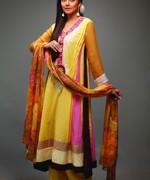 Fashion Of Multi Color Party Dresses 2014 For Pakistani Women 005