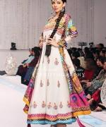 Fashion Of Multi Color Party Dresses 2014 For Pakistani Women 008