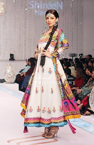 Fashion Of Multi Color Party Dresses 2014 For Pakistani Women 008