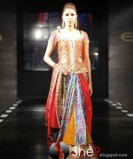 Fashion Of Multi Color Party Dresses 2014 For Pakistani Women 009