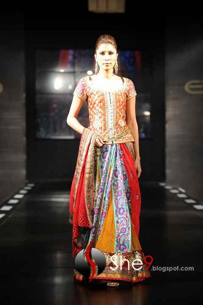 Fashion Of Multi Color Party Dresses 2014 For Pakistani Women 009