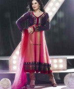Fashion Of Multi Color Party Dresses 2014 For Pakistani Women