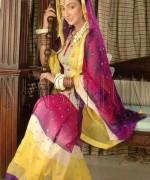Fashion Of Sharara Mehndi Dresses 2014 For Women 001