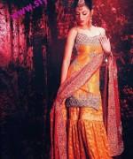 Fashion Of Sharara Mehndi Dresses 2014 For Women 002