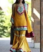 Fashion Of Sharara Mehndi Dresses 2014 For Women  006