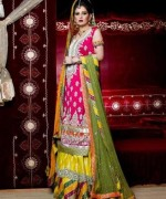 Fashion Of Sharara Mehndi Dresses 2014 For Women  007