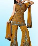Fashion Of Sharara Mehndi Dresses 2014 For Women  009