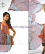 Ghani Kaka Textile Mid Summer Dresses 2014 For Women 7