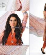 Ghani Kaka Textile Mid Summer Dresses 2014 For Women 9