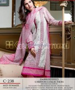 Gul Ahmed La Chiffon Dresses 2014 For Mid Summer 10