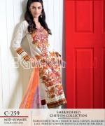 Gul Ahmed La Chiffon Dresses 2014 For Mid Summer 12