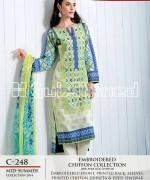 Gul Ahmed La Chiffon Dresses 2014 For Mid Summer 2