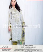 Gul Ahmed La Chiffon Dresses 2014 For Mid Summer 3