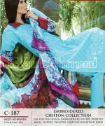 Gul Ahmed La Chiffon Dresses 2014 For Mid Summer 6