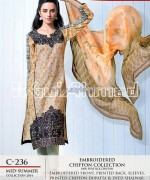 Gul Ahmed La Chiffon Dresses 2014 For Mid Summer 9