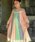Trends Of Mehndi Dresses 2014 For Kids 004