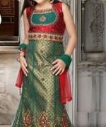 Trends Of Mehndi Dresses 2014 For Kids 005