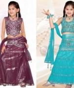 Trends Of Mehndi Dresses 2014 For Kids 007