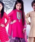 Trends Of Mehndi Dresses 2014 For Kids 009