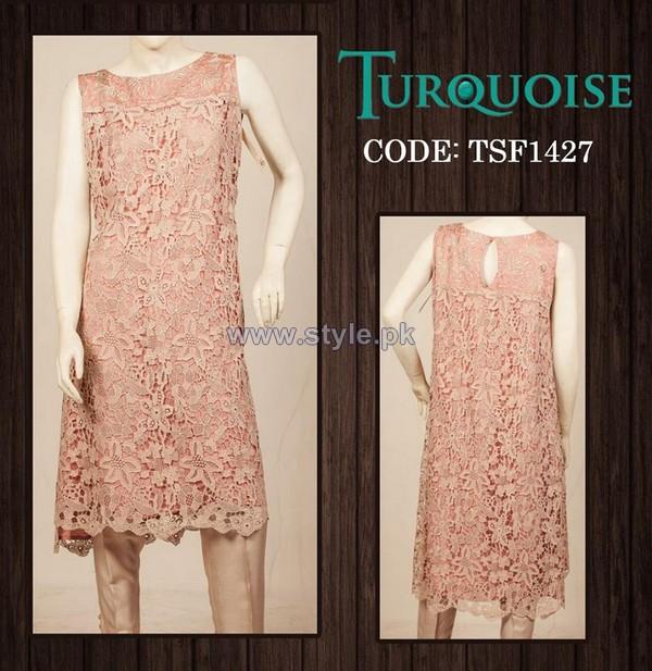 Turquoise Mid Summer Dresses 2014 For Girls 5