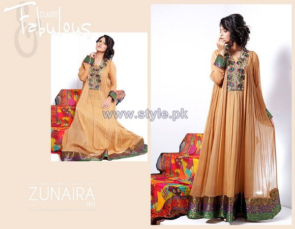 Zunaira's Lounge Eid-Ul-Azha Dresses 2014 For Girls 4