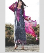 Deeba Designer Embroidered Dresses 2014 by Shariq Textiles 6