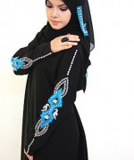 Fashion Of Embroidered Hijabs 2014 For Women 001