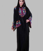 Fashion Of Embroidered Hijabs 2014 For Women 005