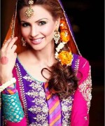 New Bridal Hairstyles 2014 For Mehndi Function 0010