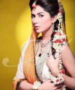 New Bridal Hairstyles 2014 For Mehndi Function 0011