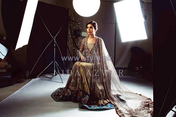 Nida Azwer Wedding Wear Dresses 2014 For Girls 5