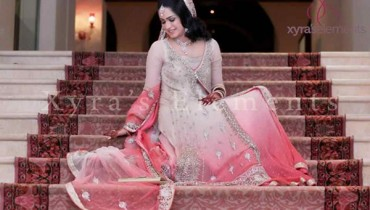 Trend Of Pink Walima Dresses 2014 For Pakistani Brides 002