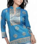 Trend Of Women Kurtas 2014 With Jeans 004