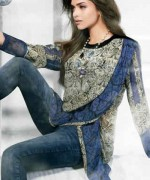 Trend Of Women Kurtas 2014 With Jeans 007