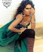 Umsha By Uzma Babar Silk Dresses 2014 For Girls 6