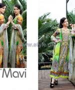Mavi Designer Winter Dresses 2014 By Shariq Textiles 5