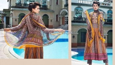 Rabea Designer Embroidered Dresses 2014 by Shariq Textiles 1