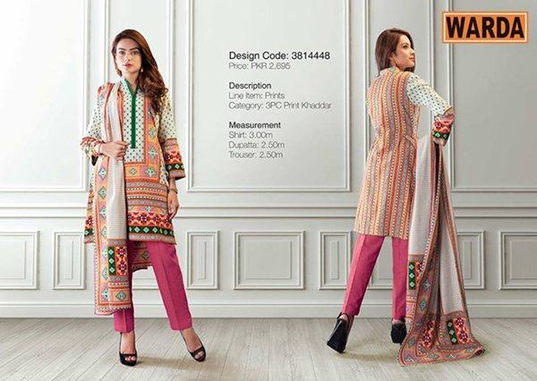 Warda Designer Winter Dresses 2014 For Women 009