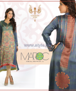 Yasmeen Jiwa Digital Print Dresses 2014 For Girls 5