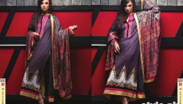 Ayesha Zara Woven Shawl Dresses 2014 by Al-Zohaib Textile 1