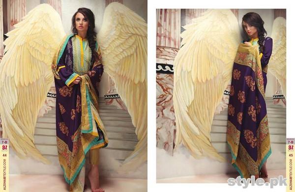 Ayesha Zara Woven Shawl Dresses 2014 by Al-Zohaib Textile 4