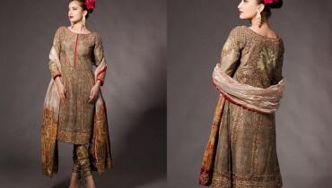 Fahad Hussayn Bridal Wear Dresses 2014 For Girls 1
