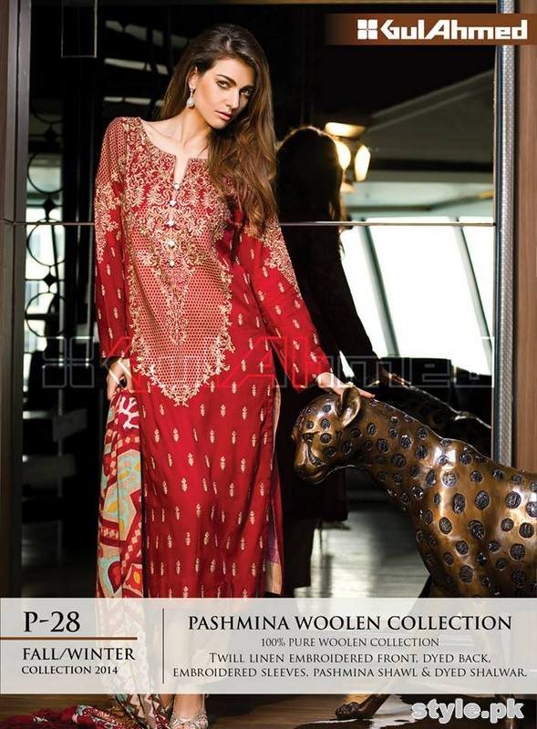 Gul Ahmed Winter Dresses 2014-2015 For Women 5