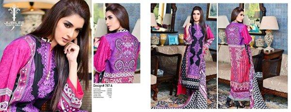 Jubilee Cloth Mills Winter Dresses 2014 Volume 5 For Women 005
