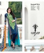Jubilee Cloth Mills Winter Dresses 2014 Volume 5 For Womenv0011