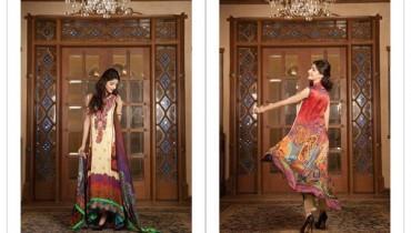 LSM Fabrics Rosette Digital Print Dresses 2014 For Women 2