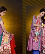 Mashaal Embroidered Shawl Collection 2014 By Lala Textile 2