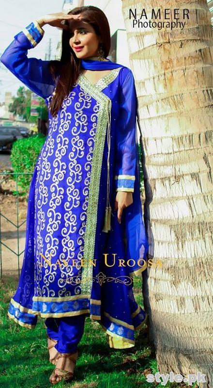 Naveen Uroosa Semi-Formal Dresses 2014 For Girls 5