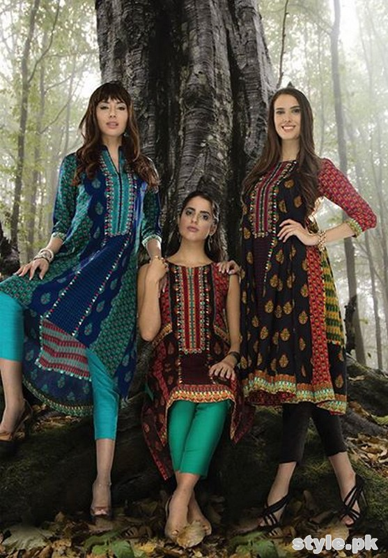 Orient Textiles Fall Winter Dresses 2014 For Women 4