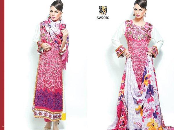 Shaista Cloth Winter Dresses 2014 Volume 3 For Women 0012